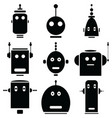 vinatge robots heads vector image
