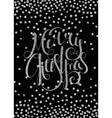 Silver calligraphic inscription Merry Christmas vector image