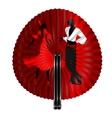 fan flamenco dancers vector image