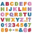 alphabet icons vector image