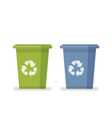dumpster capacity for household waste garbage vector image