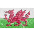 Flag of Wales with old texture vector image