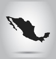 mexico map black icon on white background vector image