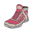 Red Hiking sneakers shoes vector image