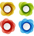 Set of round colorful shapes vector image