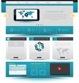 Website template design Smartphone concept vector image