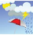 rainy day vector image vector image