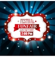 poster festival funfair light background vector image