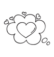 Heart in speech bubble icon vector image vector image