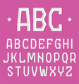 Stylish alphabet vector image vector image
