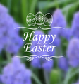 easter muscary blur vector image vector image