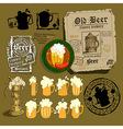 set of beer elements vector image vector image