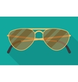 sun glasses with long shadow vector image