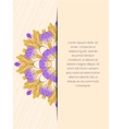 Mandala flower decorative card vector image