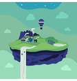 Fantasy flying island vector image