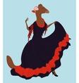 flamenco dancer ferret in long dress vector image