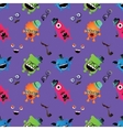 Hipster Monster Seamless Pattern vector image