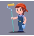house painter flat character with paint vector image