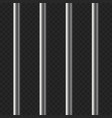 realistic prison bars on transparent background vector image