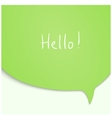 Speech Bubble in green color vector image