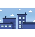 Blue buildings skyline landscape of vector image