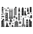 set of urban buildings vector image