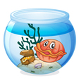 a water bowl and a shell fish vector image vector image