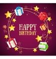 Birthday Gift Box Garland Background vector image vector image