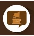 gramophone vintage symbol icon vector image