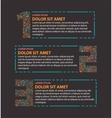 Three steps info graphics vector image