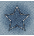 jeans star vector image