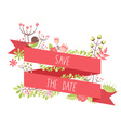 Elegant floral decorative elements vector image