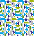 Bright seamless pattern with geometric figures vector image