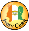 button Ivory Coast vector image vector image
