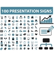 presentation icons vector image vector image