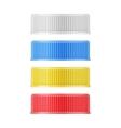 Colored plastic lids for bottle vector image