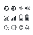 Different mobile phone notification pictograms vector image