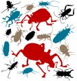 the beetles vector image