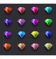 Colored diamond shiny vector image