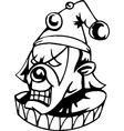 Evil clown - halloween set - vector image