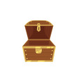 open empty wooden pirate treasure chest vector image