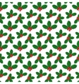 pattern with holly berries vector image