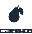 Pear icon flat vector image