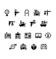 Set icons of electric generator and air compressor vector image