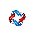 technology orbit circle abstract logo vector image