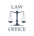 Law office icon with Scales of Justice vector image