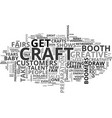 a second career at craft shows text word cloud vector image
