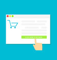 buying gifts online shopping vector image