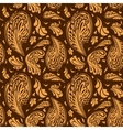 Elegant seamless pattern with floral ornament vector image