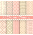 Pastel loving wedding seamless patterns tiling vector image